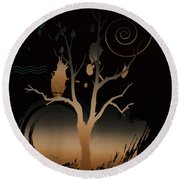 Night Reflections  Round Beach Towel