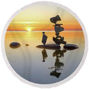 Reflect Round Beach Towel