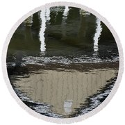 Reflected Investment Round Beach Towel