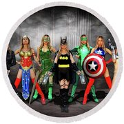 Reflections Of A Hero Round Beach Towel
