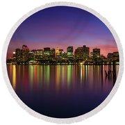 Reflections Of Boston II Round Beach Towel