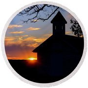 Reflections Of God Round Beach Towel