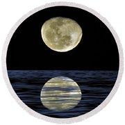 Reflective Moon Round Beach Towel