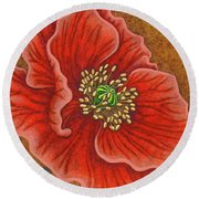Round Beach Towel featuring the painting Regal Beauty by Amy E Fraser