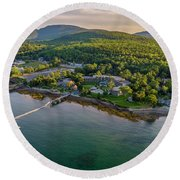 Round Beach Towel featuring the photograph Regent Views by Michael Hughes