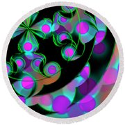 Round Beach Towel featuring the digital art Religion by Vitaly Mishurovsky