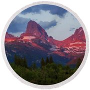 Reliving The Tetons Round Beach Towel