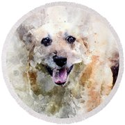 Remember The Four-legged Smile Round Beach Towel