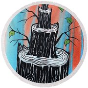 Resilient Overcomer Round Beach Towel