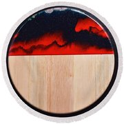 Resin-cutting Board 17 Round Beach Towel