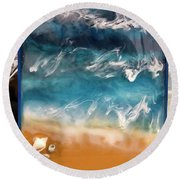 resin-Waves-2a Round Beach Towel