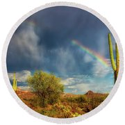 Round Beach Towel featuring the photograph Respite From The Storm by Rick Furmanek