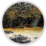 Resting Reflections Round Beach Towel