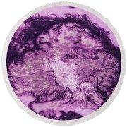 Rhapsody In Purple Round Beach Towel