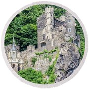 Rheinstein Castle Round Beach Towel