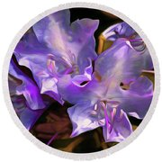 Rhododendron Glory 17 Round Beach Towel