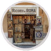 Round Beach Towel featuring the photograph Ricordi Di Roma by Craig J Satterlee