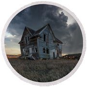 Round Beach Towel featuring the photograph Right Where It Belongs by Aaron J Groen