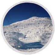 Rime And Snow, And Mountain Trolls. Round Beach Towel