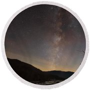 Round Beach Towel featuring the photograph Risen by Russell Pugh