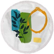 Rising With The Sun 1- Art By Linda Woods Round Beach Towel