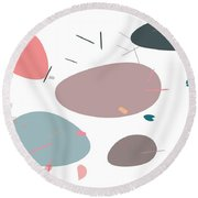 Round Beach Towel featuring the digital art River Bank by Marianna Mills