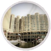 River City, South Loop Chicago Round Beach Towel