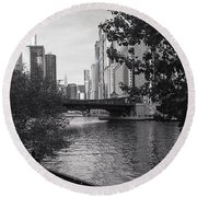 River Fence Round Beach Towel
