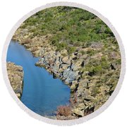 River On The Rocks. Color Version Round Beach Towel