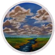 River To Nowhere Round Beach Towel