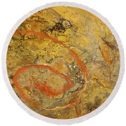 Riverbed Stone Round Beach Towel