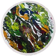 Rivers And Valleys Round Beach Towel