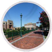 Riverwalk Downtown Augusta Ga Round Beach Towel