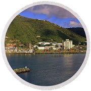 Round Beach Towel featuring the photograph Road Harbour by Tony Murtagh