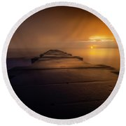 Road To No Place Round Beach Towel