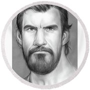 Robert Maillet Round Beach Towel