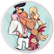 Rock A Doodle Round Beach Towel