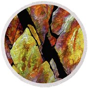 Rock Art 17 Round Beach Towel