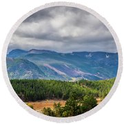Rockies - Clouds Round Beach Towel
