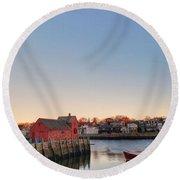Rockport Massachusetts  Round Beach Towel