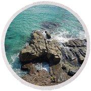 Rocks And Water Round Beach Towel