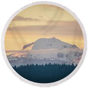 Rocky Cathedrals That Reach To The Sky Round Beach Towel