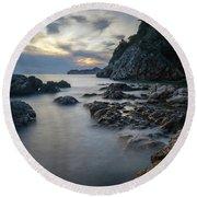Rocky Coast Near Dubrovnik Round Beach Towel