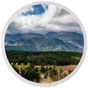 Rocky Foothills Round Beach Towel