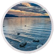 Rocky Lake Vista Round Beach Towel