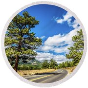 Rocky Mountain Highway Round Beach Towel