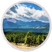 Rocky Mountain Np I Round Beach Towel