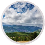Rocky Mountain Np II Round Beach Towel