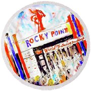 Rocky Point Chowder House Round Beach Towel