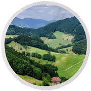 Rolling Hills Of The Black Forest Round Beach Towel